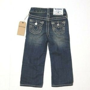 True Religion Kids Straight Leg Jean's 3T NWT!